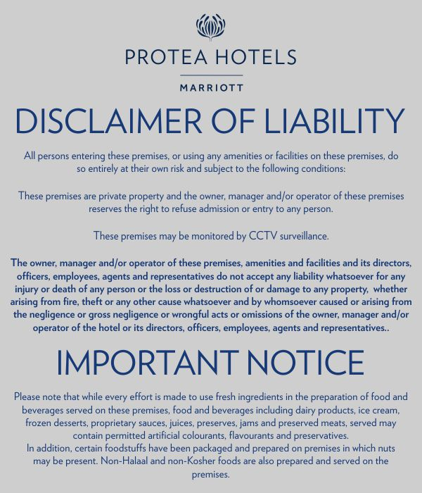 Disclaimer signs for Property disclaimer template